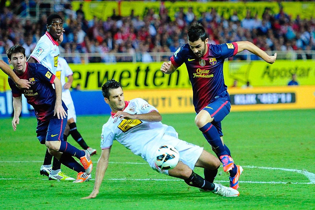 David Villa scored a dramatic winner last time against Sevilla, and he could be back.