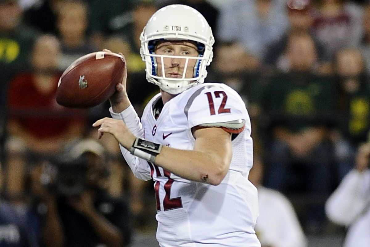 Washington State quarterback Connor Halliday leads the nation with 1,901 yards passing on the season and will present a formidable challenge for Utah's defensive secondary.