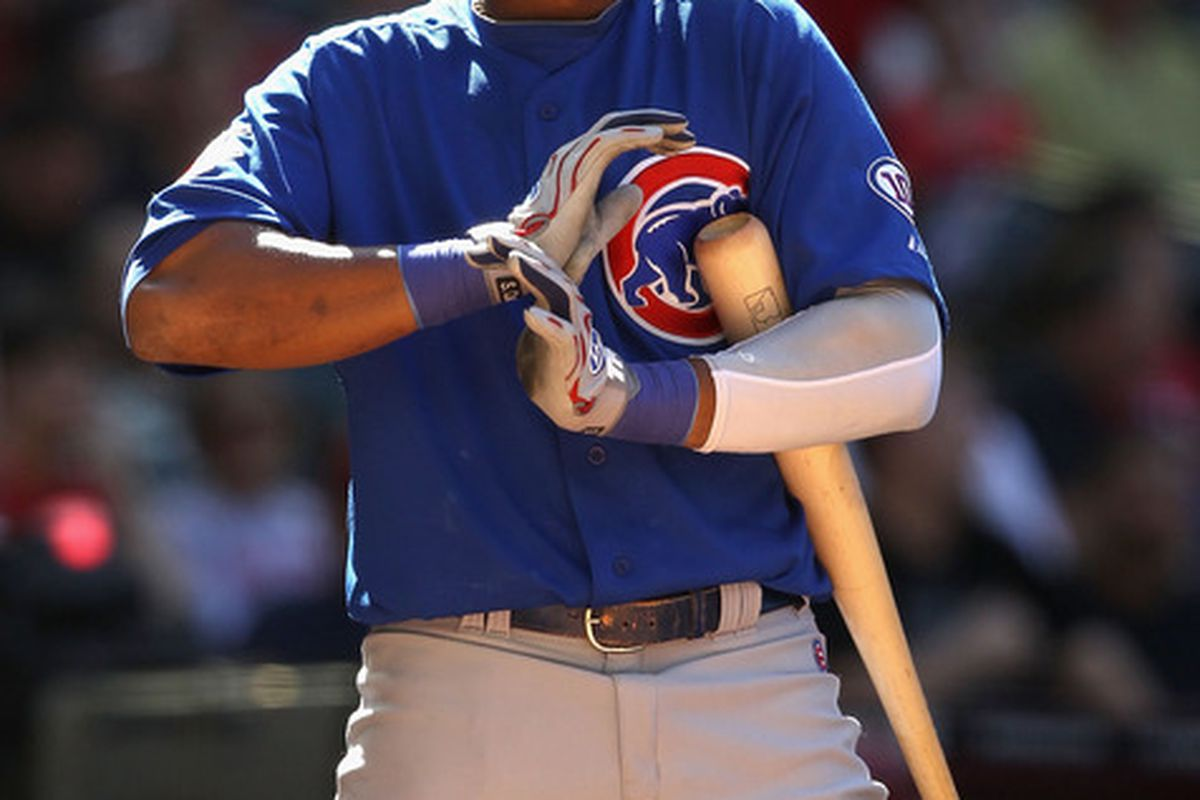Starlin Castro of the Chicago Cubs bats against the Arizona Diamondbacks during the Major League Baseball game at Chase Field on May 1, 2011 in Phoenix, Arizona.  The Diamondbacks defeated the Cubs 4-3.  (Photo by Christian Petersen/Getty Images)