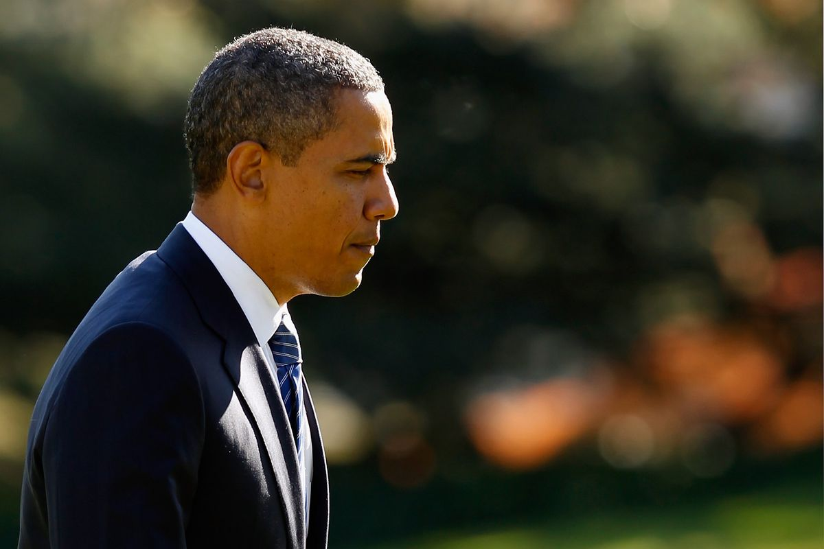 Obama pensive
