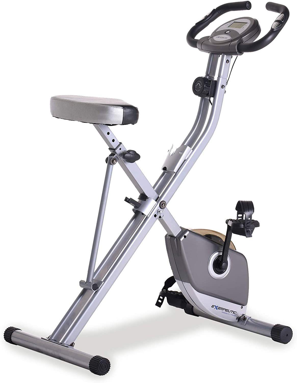 Bicicleta estática vertical magnética plegable Exerpeutic