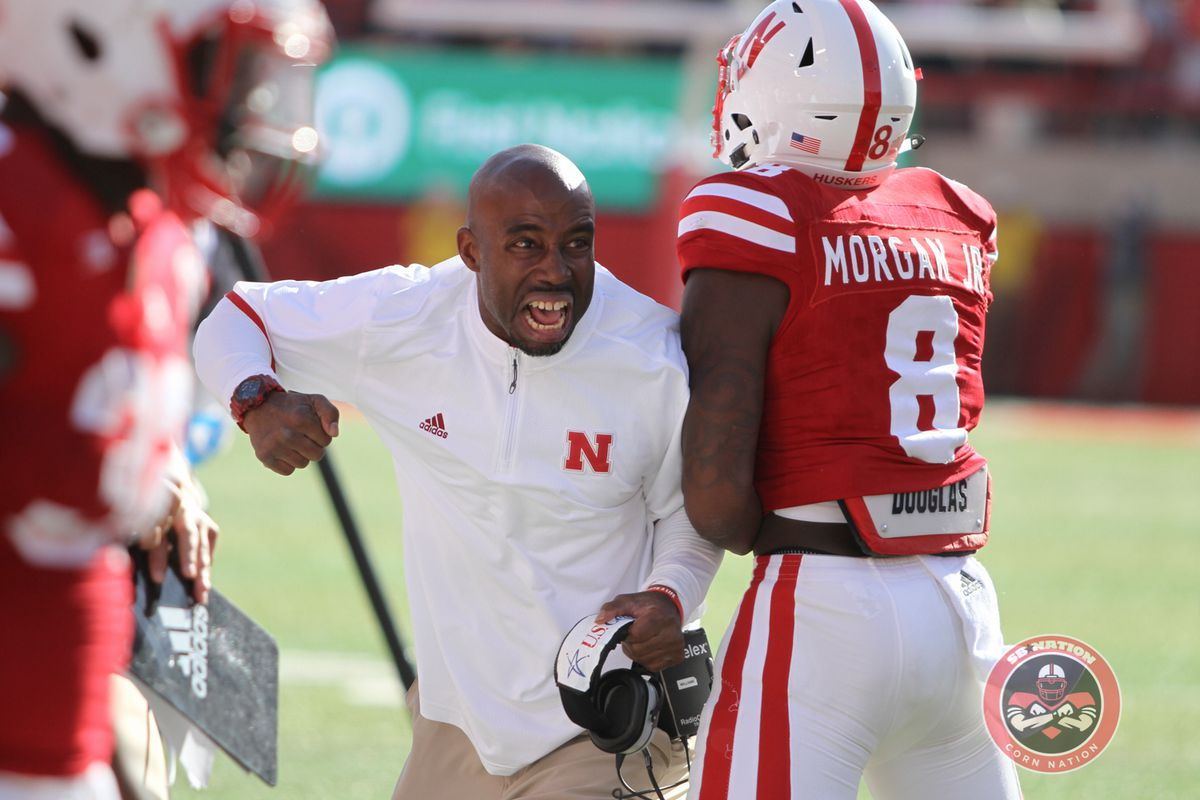 Nebraska receivers coach Keith Williams is excited!