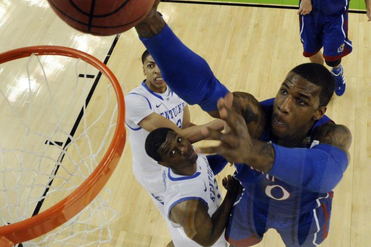 """Here I come to save the day!"" Mandatory Credit: Chris Steppig/NCAA Photos via US PRESSWIRE"