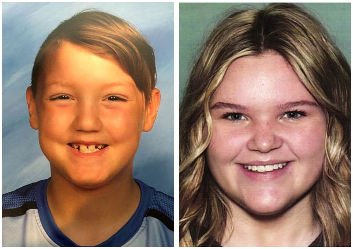 """This combination photo of undated photos released by National Center for Missing & Exploited Children show missing children Joshua """"JJ"""" Vallow, left, and Tylee Ryan. Their relatives are offering a $20,000 reward for information leading to their recovery."""