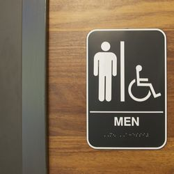 The restrooms are handicapped accessible.
