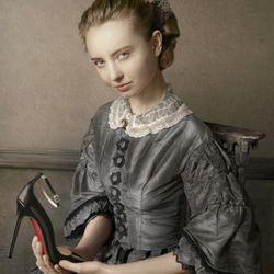 Jean-Baptise-Camille Corot, Portrait of a Girl, Shoe: Halte Black