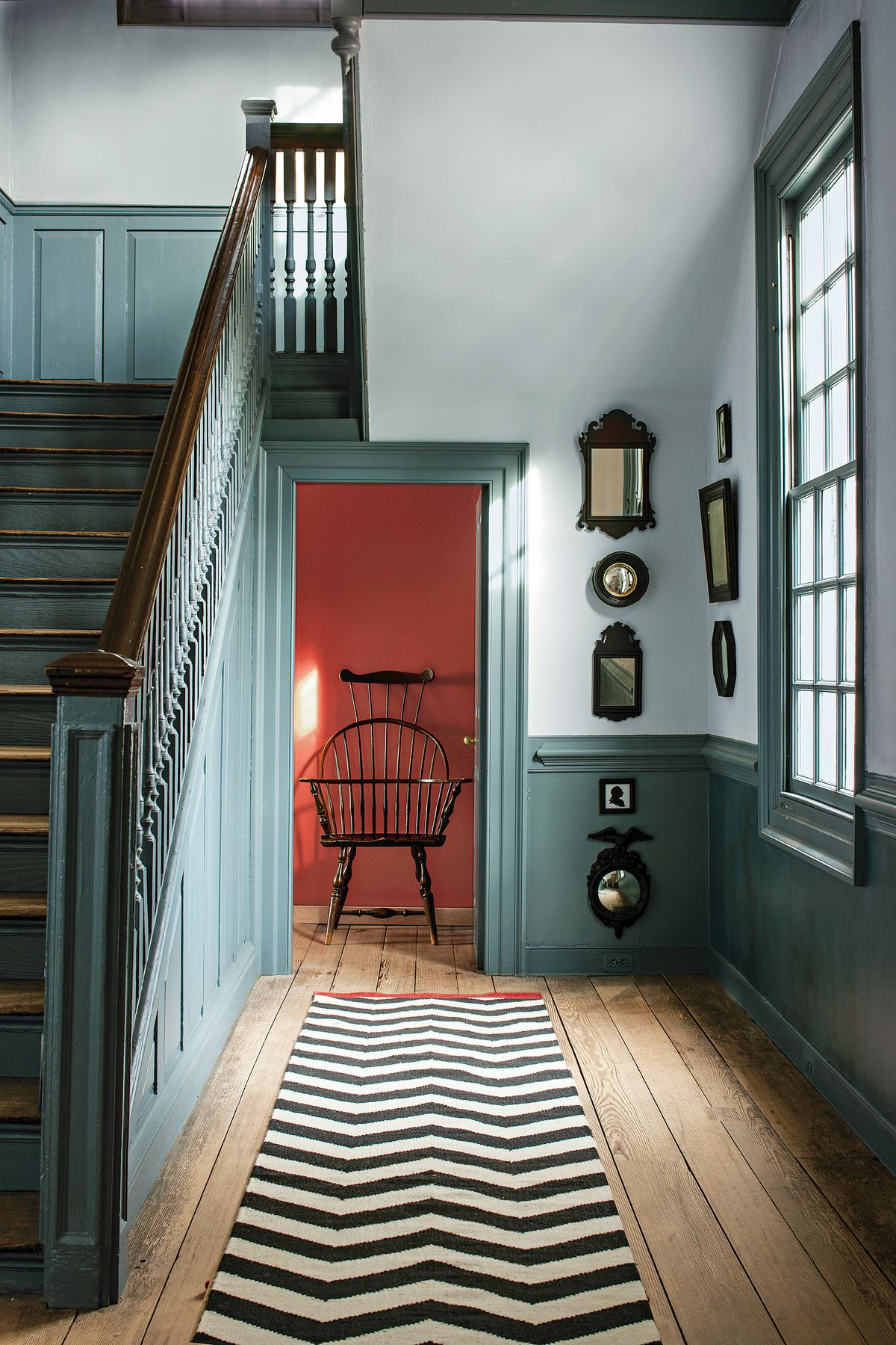 Colonial House With Muted Hues