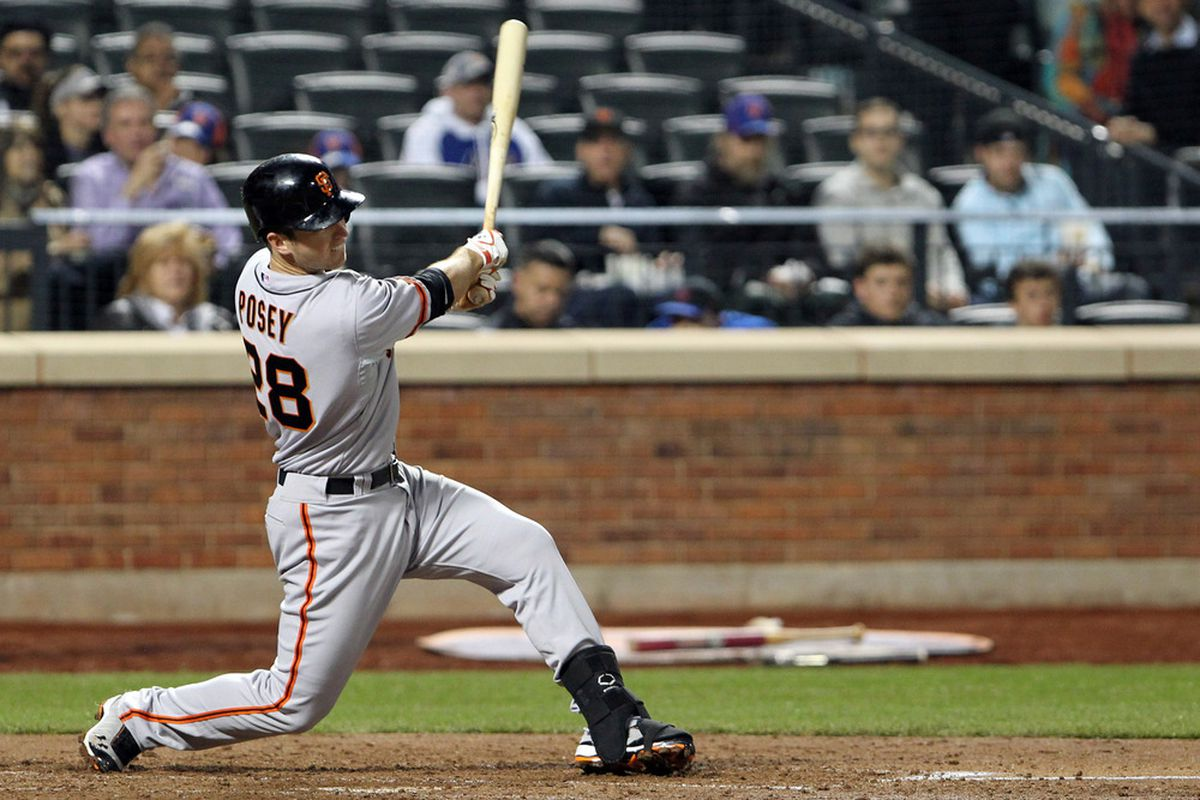Buster Posey will soon be fantasy-eligible at first base. Mandatory Credit: Anthony Gruppuso-US PRESSWIRE