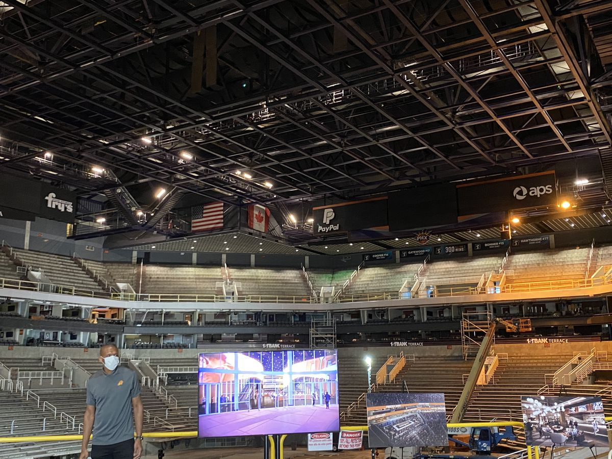 Phoenix Suns general manager James Jones at Talking Stick Resort Arena