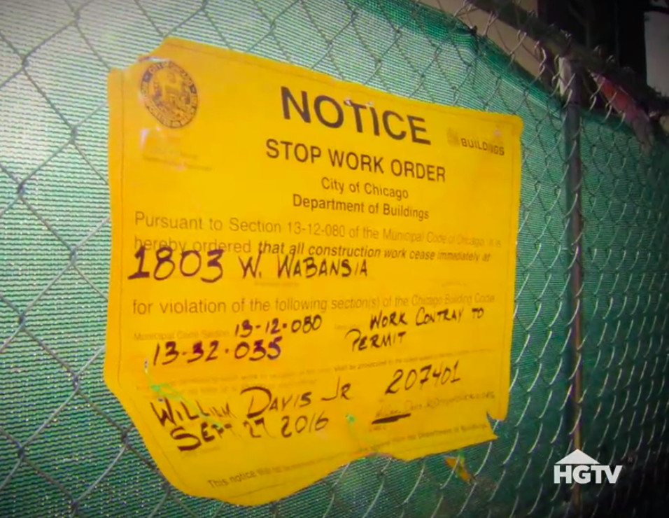 The crews received a work suspension order after the house collapsed during rehabilitation. The | Hgtv