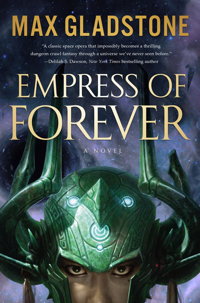 empress of forever cover with a woman obscured by a pointy helmet