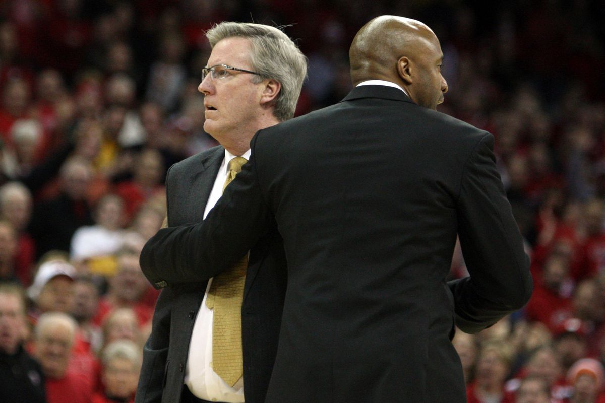 Though they tried, Fran McCaffery's assistants could not calm their head coach down enough to avoid Fran's ejection from the game