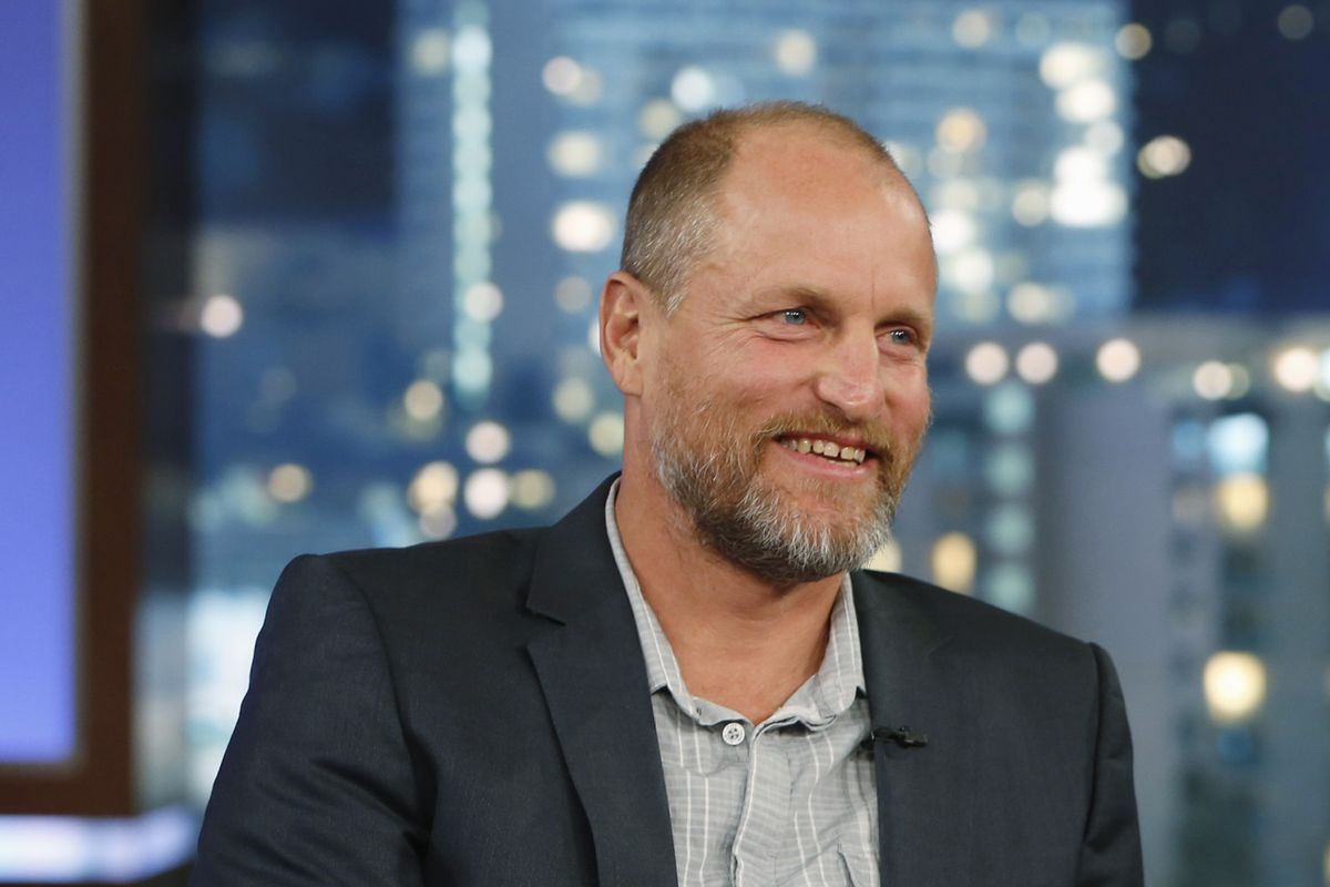 Woody Harrelson on ABC's Jimmy Kimmel Live on October 14, 2013.