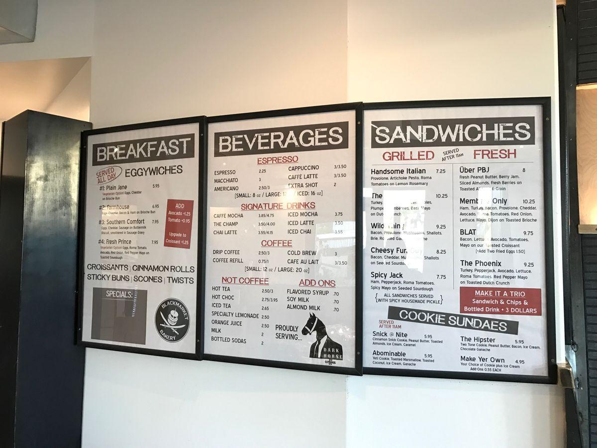 blackmarket menu