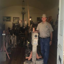 Jay Weyland opens the Donner-Reed Museum in Grantsville by appointment.
