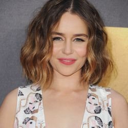 BEST TOUSLED BOB WITHOUT BANGS: Emilia Clarke for the win, and bonus points for making a subtle ombre look good.