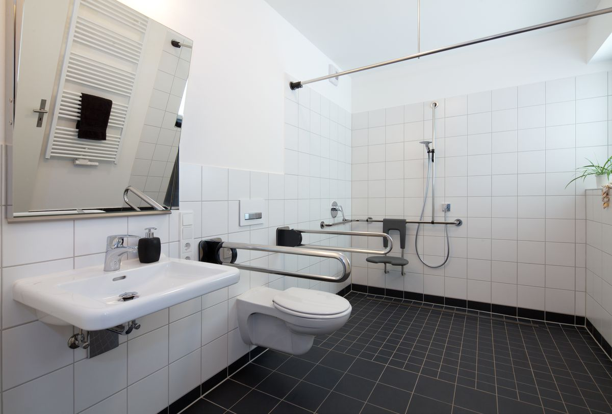Healthcare facilities need to upgrade restrooms to better accommodate the needs of the elderly or infirm.