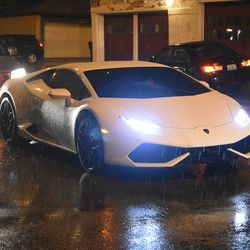 10:55 p.m. This Lamborghini is usually parked in the players' parking lot. The car was stuck in post game traffic, on Racine -