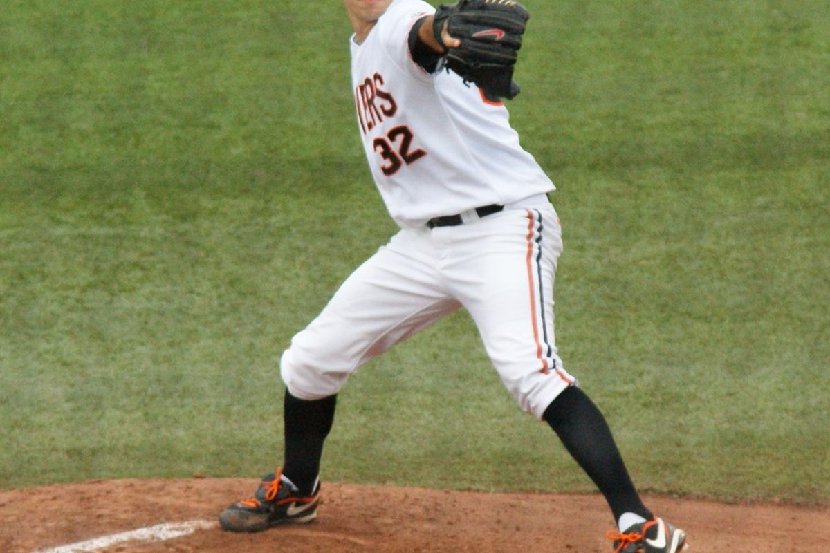 Oregon St.'s Sam Gaviglio has been named a second team All-American by Louisville Slugger.  <em>(Photo by Andy Wooldridge) </em>