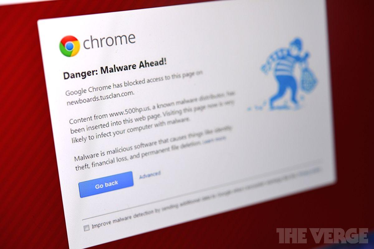 Google Chrome Malware Warning (STOCK)