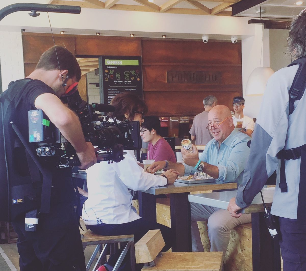 Andrew Zimmern Spotted At Menya Ramen, Catalina Offshore