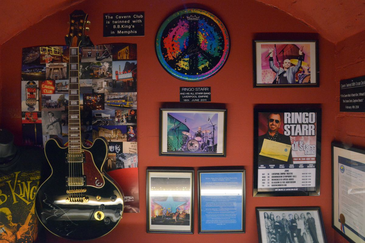 The photo picker is being weird so here's a shot of some memorabilia inside the Cavern Club in Liverpool.