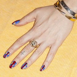 """I email my friend and fellow manicurist <a href=""""http://aliciatorello.com/"""">Alicia Torello</a> in hopes she'll give me a manicure based on the colors and patterns I've seen on my trip. I wake up to her response: Nails she just did that she could incorpora"""