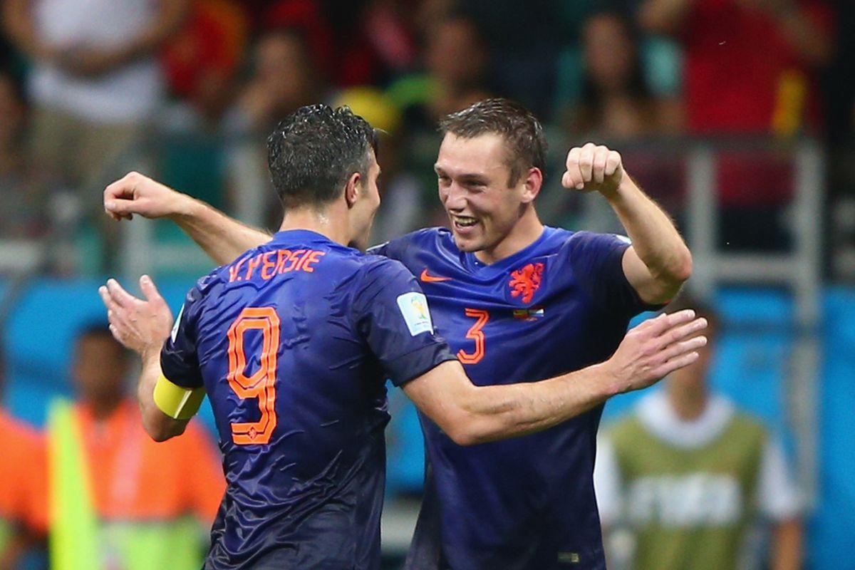 Netherlands celebrating another goal