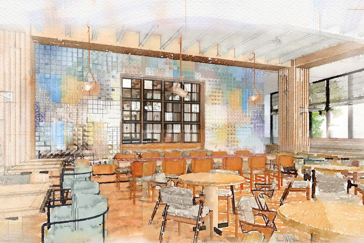 A rendering of one of the Austin Proper restaurants