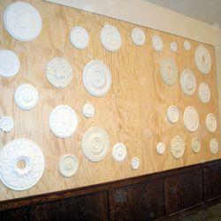 Back wall medallions.