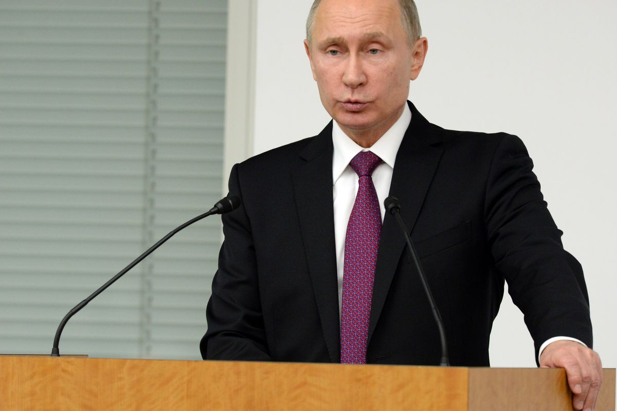 Russian President Putin Attends Russian-Japanese Business Dialogue In Tokyo