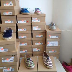 Espadrille sneakers in various patterns, $145