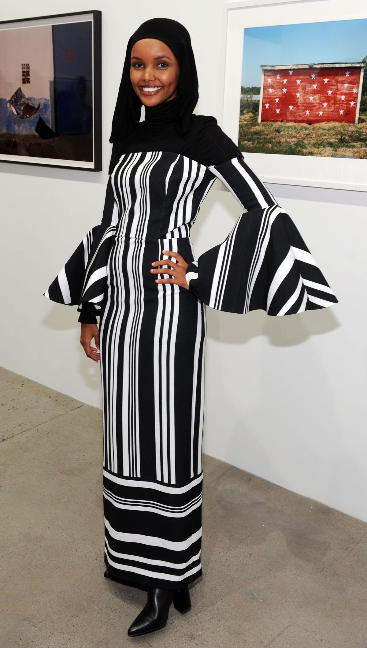 Halima Aden attends Art + Commerce: The Exhibition opening at Skylight Modern on September 8, 2017 in New York City.
