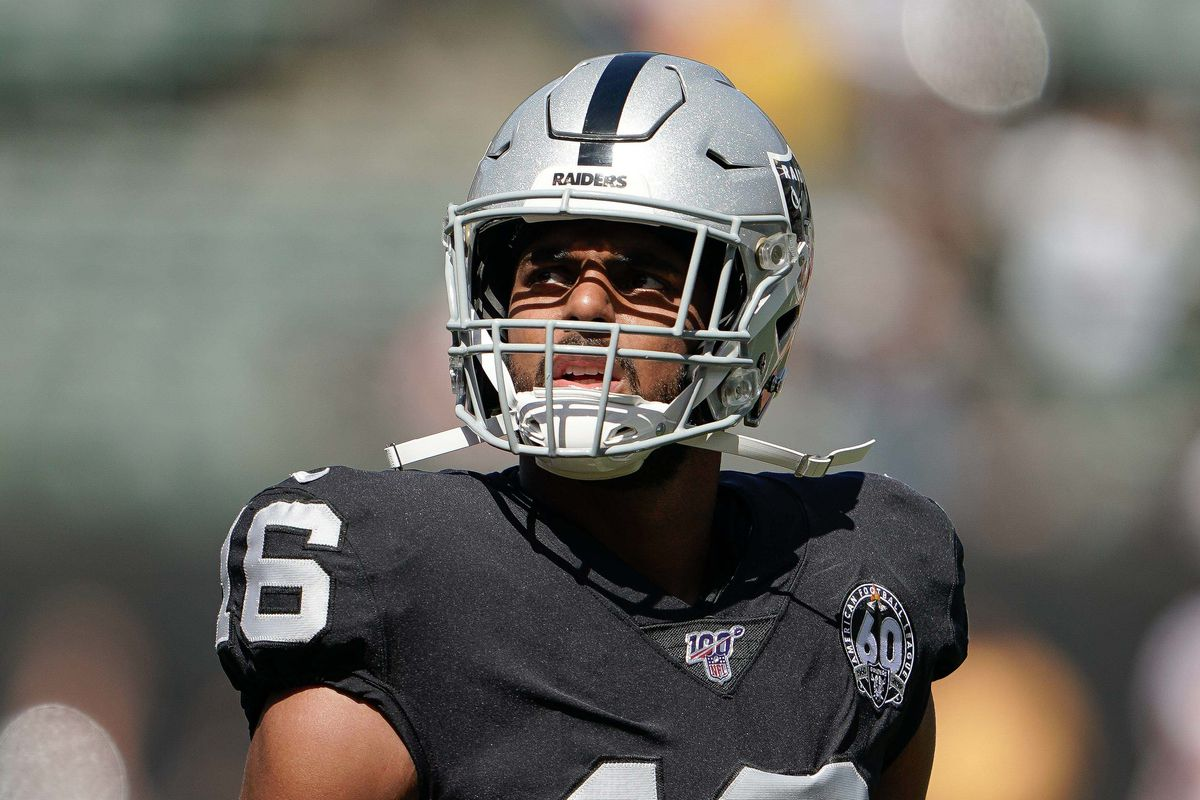 Oakland Raiders wide receiver Tyrell Williams before the game against the Kansas City Chiefs at the Oakland Coliseum.