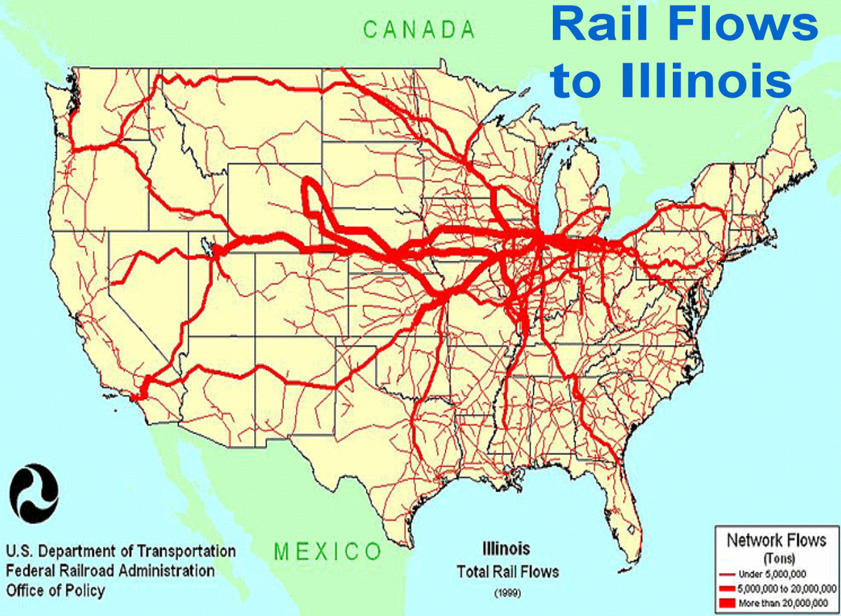Transportation that built Chicago: The importance of the ... on chicago train, chicago rail yards, chicago commuter rail map, chicago rail terminal, chicago light rail map, united states freight railroad map, vancouver freight rail map, chicago area rail map, chicago rail transit map,