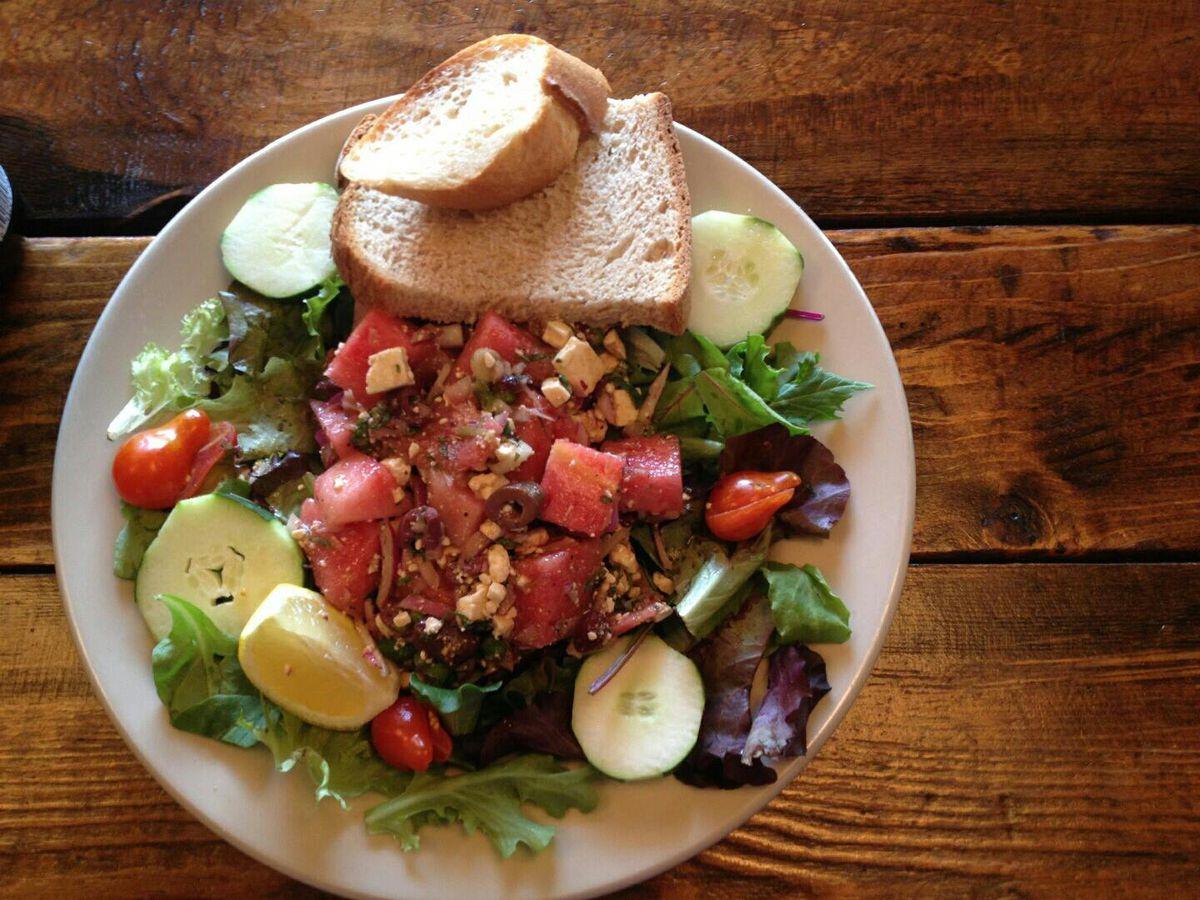 Blue Dahlia salad
