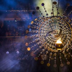 The Paralympic Cauldron moments before it was extinguished during the closing ceremony of the Rio 2016 Paralympic Games at the Maracana Stadium in Rio de Janeiro, Brazil, Sunday, Sept. 18, 2016.