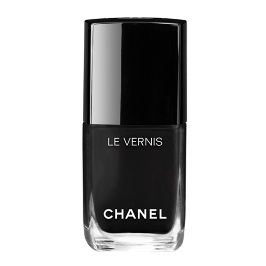 A black cream Chanel nail polish