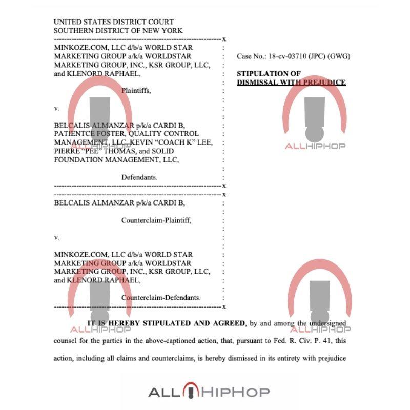 Cardi B court documents Dec. 2020