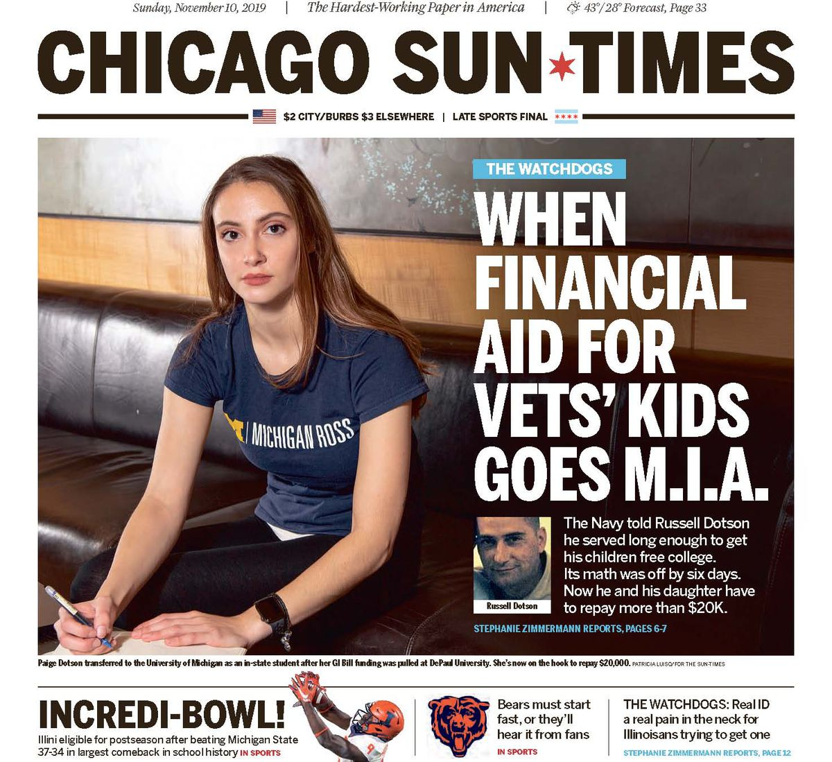 A Chicago Sun-Times investigation helped get Paige Dotson's debt waived and her educational benefit restored.