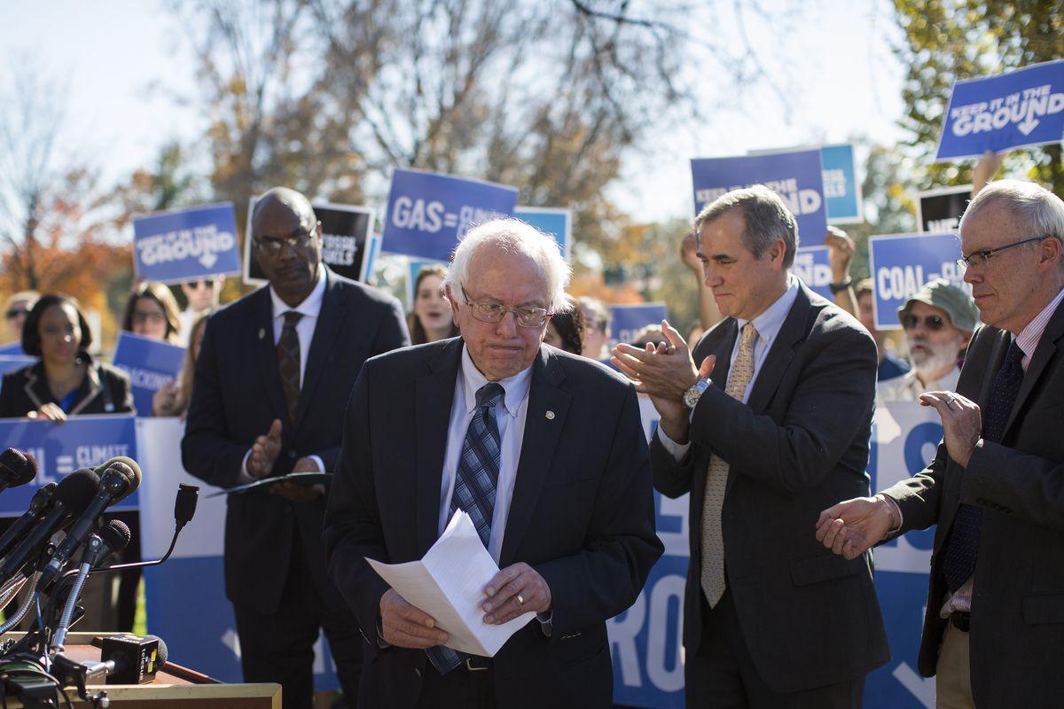 Sanders, post-mic-drop.