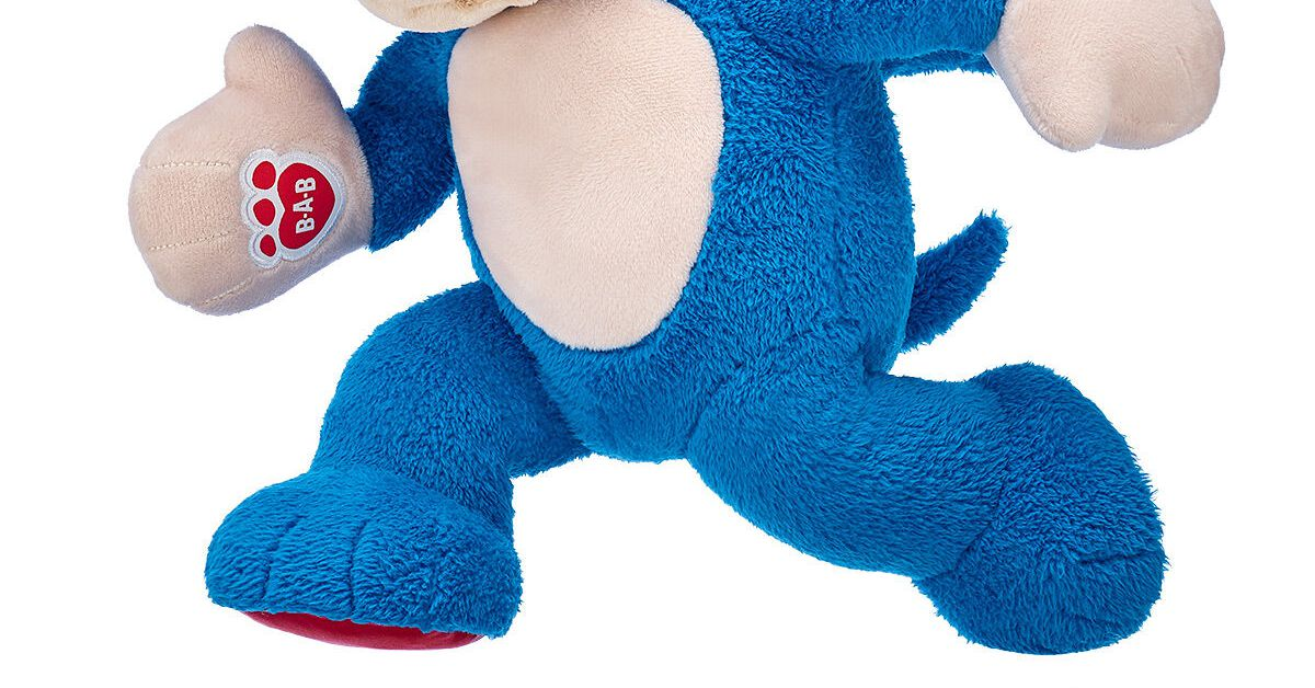 This Sonic the Hedgehog plush is non-canon, because you can see his feet