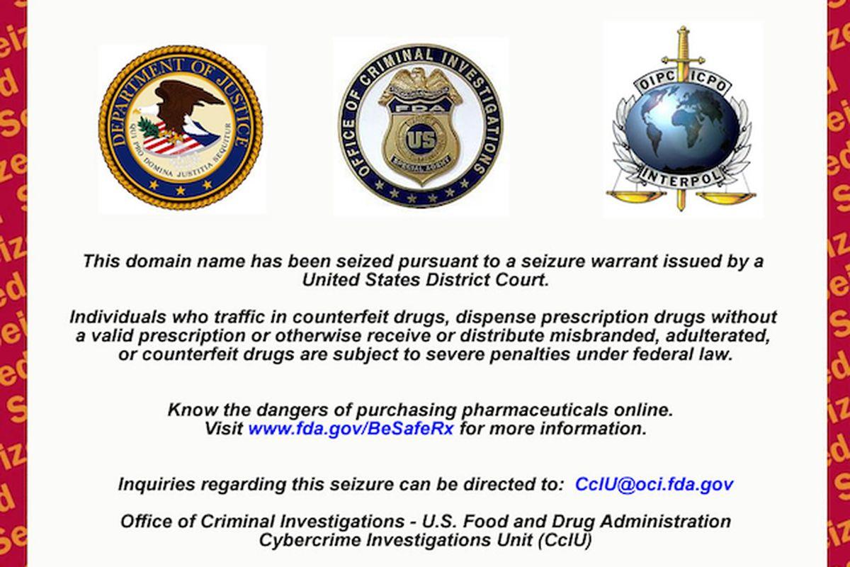 fda website seizure