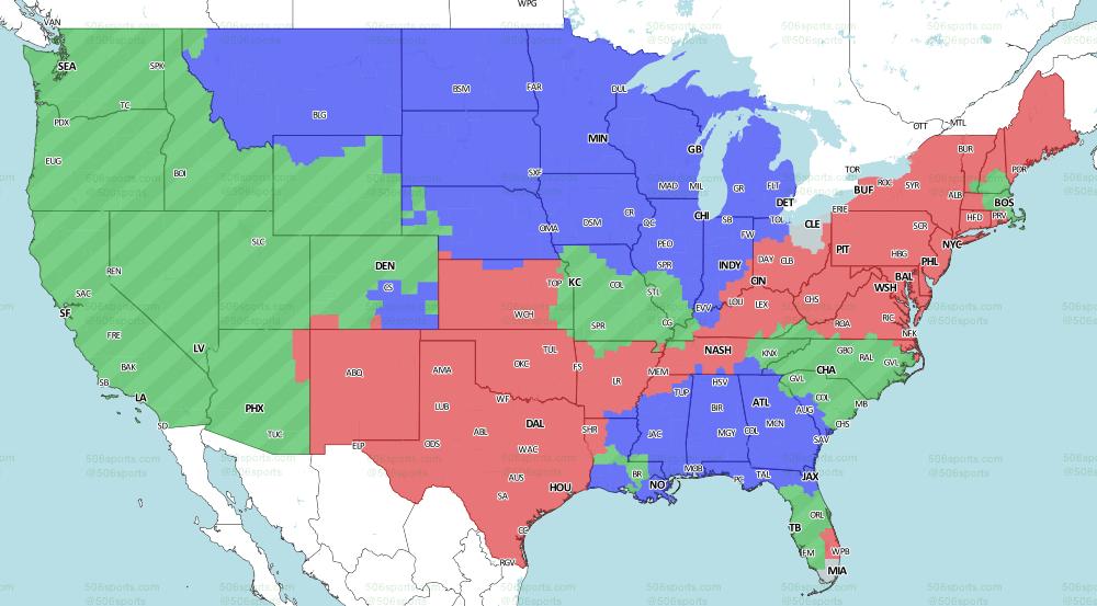 Eagles vs  Redskins Week 1 game TV coverage map - Bleeding