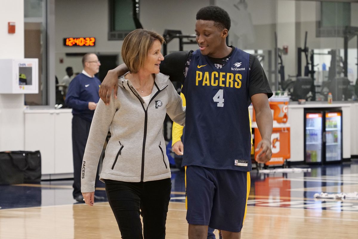 The Indiana Pacers have a female general manager, which is