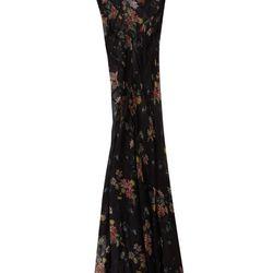 Floral Seamed Maxi Dress, $350