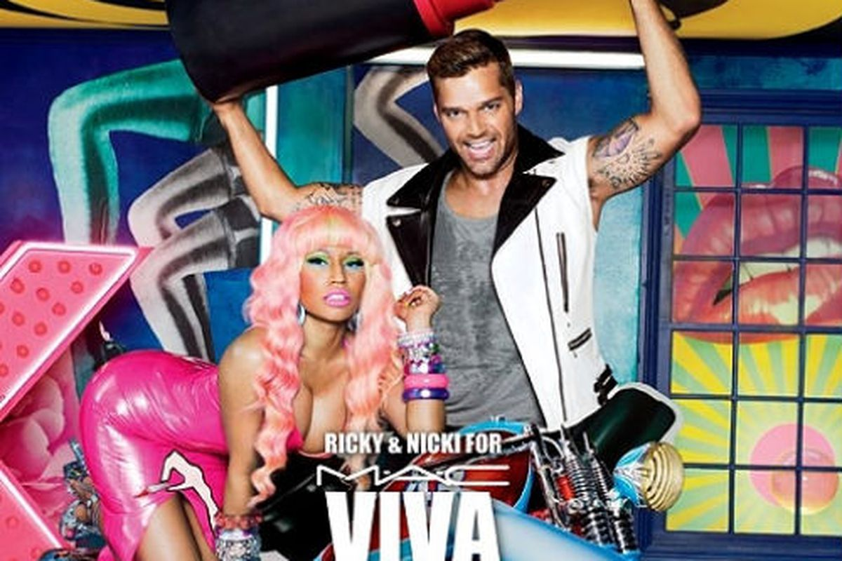 Nicki Minaj and Ricky Martin in MAC's Viva Glam Ad - Racked