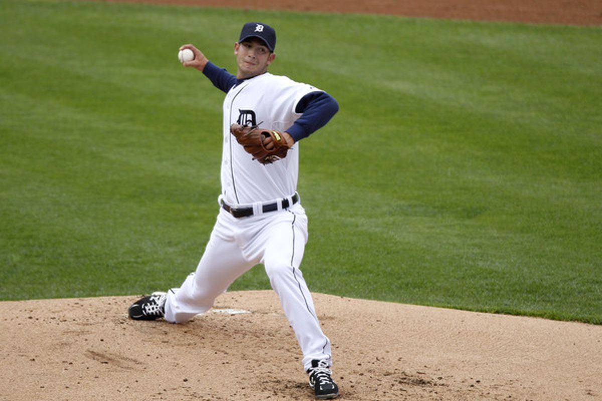 Rick Porcello didn't earn the quality start, but he was the first Tigers starting pitcher to record a win this season.