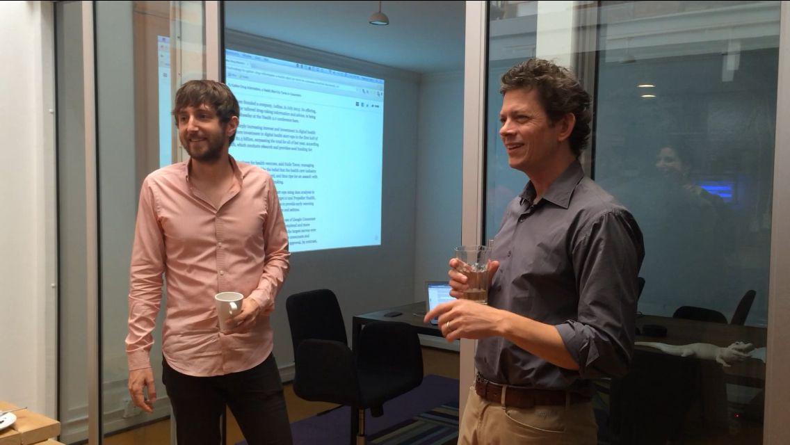 Iodine CTO Matt Mohebbi and CEO Thomas Goetz