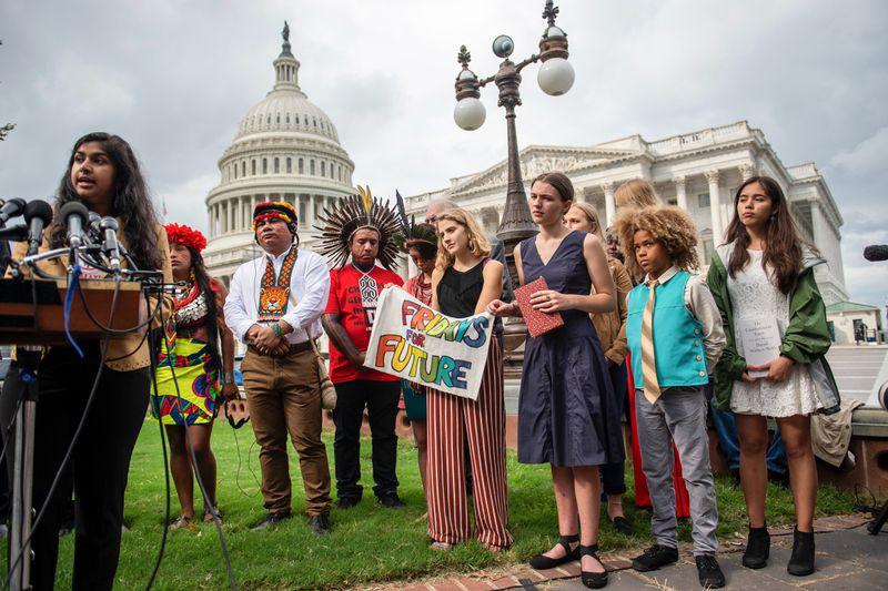 Nadia Nazar speaks on Capitol Hill.